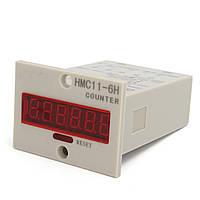 HMC11-6H 6-Digit 100-240 999999 светодиодный дисплей Датчик Цифровой UP Счетчик+NPN