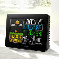 Digoo-DG TH8868 Беспроволочный полноцветный экран Automic Цифровой USB с подсветкой На открытом воздухе Гигрометр метеорологической ст