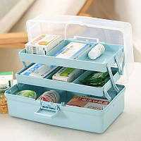 7 Щели Large Home Storage Box аптечке лекарств Организатор Case First Aid Kit Box Путешествия Бункеры