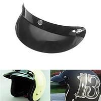 Универсальный черный 3 щелчковые Кнопки объектива Visor Щит для мотоцикла открытое лицо касок 27см/10.6in