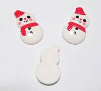 Новогодний мини декор 2,5 см, Снеговик