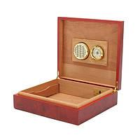 LUXFO LF1001 Brown Cedar Wood Подкладка сигары хьюмидор С гигрометр Box