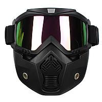 Съемные Модульный шлем маска Щит очки Красочный объектива Мотоцикл Велосипед