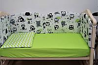 Защитные бортики в кроватку для новорожденных Joy 6 элементов 360х40 см ТМ Lux baby 482121
