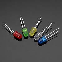 500 штук 20Ma F5 5MM 5 цветов ультра яркий LED диод 100 штук каждый цвет