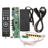 V56 Универсальный телевизор LCD ПК / VGA / HD / Контроллер USB-контроллера + адаптер EU + Клавиатура