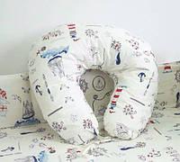 Подушка для беременных и кормления Паруса 90 х 90 см ТМ Lux baby 482109
