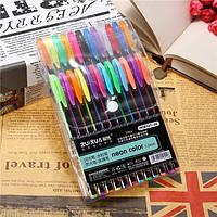 24 шт Цвет геля Pen Set для взрослых Книжка-раскраска Ink Pen Рисунок Живопись Craft Искусство для школы домой
