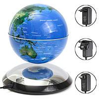 6-дюймовый магнитной левитации плавающей глобус Карта мира Теллурий Синий подарок Декор