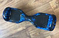 """Smart Balance Wheel Simple 6,5"""" Синие пламя +сумка +баланс +приложение, фото 1"""