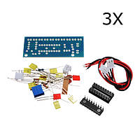3шт DIY LM3915 Аудио Индикатор уровня Электронный люкс Производство Kit