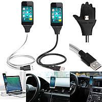 Гибкая Micro USB зарядное устройство кабель синхронизации данных держатель док-подставка для мобильного телефона