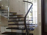 Стеклянные перила и лестницы под заказ. Киев