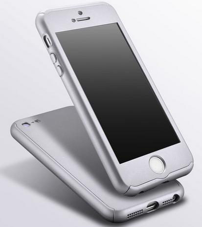 Защитный чехол для iPhone 5 5S серебристый