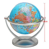 World Globe Earth Ocean Atlas Карта с поворотными Стенд География образования игрушки