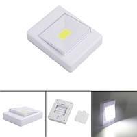Mini COB LED настенный выключатель Night Light для шкафа магнитный Батарея с управлением Кемпинг Emergency Лампа