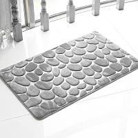 Honana BX-212 3D Галька коврик для ванной натуральный абсорбент Rubber Bath Mat Bottom из хлопка