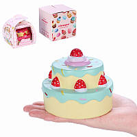 Vlampo Squishy Layer Birthday Cake Медленный рост Оригинальная упаковка Коробка Подарочная коллекция Декор Игрушка