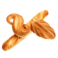 Squishy Jumbo Bread 24cm Мягкая композиция из мягкого хлебобулочного изделия с подарочным декором