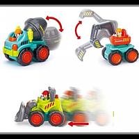 Игрушка Huile Toys Рабочая машинка (3116B) набор 12шт, фото 1