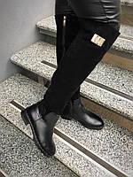 Шикарные ботфорты Versco. Комбинация из натуральной кожи и замши.