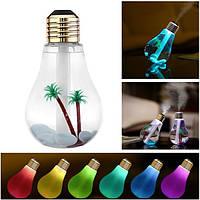 Портативный E27 светодиодные лампы Увлажнитель Красочные огни USB Диффузор очиститель воздуха Gift