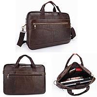 Мужчины Портфели сумки документов Бизнес офис ноутбук сумка кожа Мужской работы сумка Коричневый