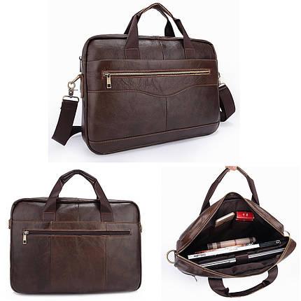 7ca2a9df3ce3 Мужчины Портфели сумки документов Бизнес офис ноутбук сумка кожа Мужской  работы сумка Коричневый 1TopShop, фото