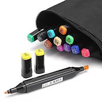 12 цветов Набор двуглавый спирта Маркеры Sketch фломастер для занятий дизайнерского искусства Поставки