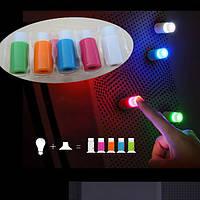 5 штук Творческий Красочные мини Sucker лампы Night Light LED Холодильник Декор окна