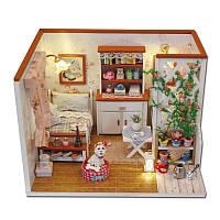 Hoomeda M024 DIY Dollhouse Miniatures Model Kit Little Happiness Assembling Handcrafts Creative Gift