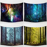 Лес Дерево Индийский Гобелены пляжное полотенце Покрывало Одеяло Гобелен Throw Мат Home Decor