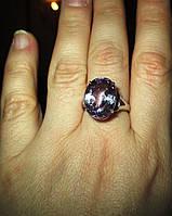 """Элегантный перстень с александритами и сапфирами """"Красивый"""", размер 17.3 от студии LadyStyle.Biz"""