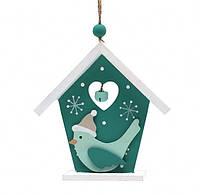 Новогоднее украшение Домик с птицей