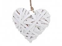 Новогодняя подвеска переплетаное сердце