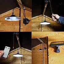 Солнечный Открытый Сад Внутренний дворик Светодиодный потолочный подвесной светильник Подвесной Гараж Навес лампа + пульт дистанционног-1TopShop, фото 3