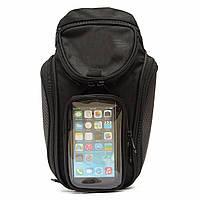 Мешок бак мотоцикла нефтяное топливо магнитное седло мешок с большим окном телефона 36x48.5cm