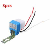 Автоматический автоматический на выключение уличного света переключатель датчика управления фото 10A 3шт переменного тока 220В