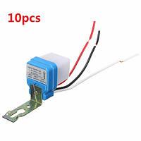 Автоматический автоматический на выключение уличного света переключатель датчика управления фото 10A 10pcs AC 220V