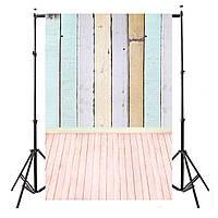 5x10FT винил Красочный фон фотографии Деревянные доски Деревянный пол Studio Backdrop