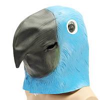 Blue Parrot Bird Mask Creepy Animal Halloween Costume Theatre Prop Party Косплей Делюкс Латекс Анима