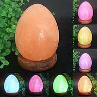 Вырезанные яйцевидной формы подарки изменение цвета USB Rock Гималайский природная соль лампа кристалл