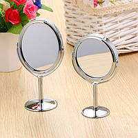 Honana BX-090 Зеркало для ванной комнаты Вращающаяся двусторонняя круглая овальная форма Стенд Круговое зеркало для макияжа