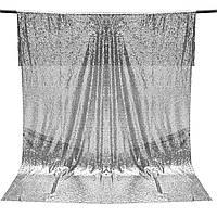 1.2x1.8M Серебряные блестки настенные фотографии фоном студия украшения скатерть