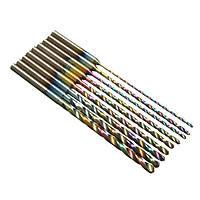 9шт 0,8-2,2мм HSS Twist Drill Bits устанавливают титановые покрытые красочные сверла