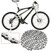 BIKIGHT Silver Steel MTB Chain 9 Speed Горная велосипедная цепь 116 ссылок для Shimano Sram