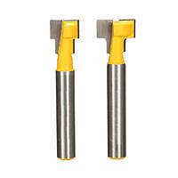 2шт 9,52 мм и 12,7 мм Ключевое отверстие Лопасти Т-образный режущий инструмент для деревянных рабочих битов