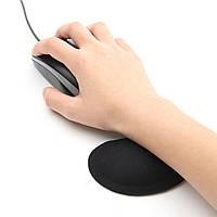 Черная силиконовая мягкая мышка для запястий