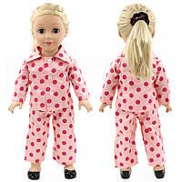 Клубники одежды куклы ручной работы пижама PJ для 18inch американской девочки