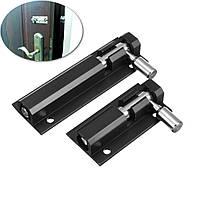 Двери повышенной безопасности болт скольжения блокировка черный сплав цинка для домашнего стража ворот ящика шкаф для одежды